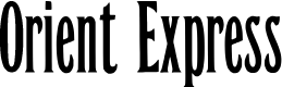 Preview image for Orient Express  Font
