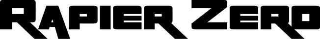 Preview image for Rapier Zero Font
