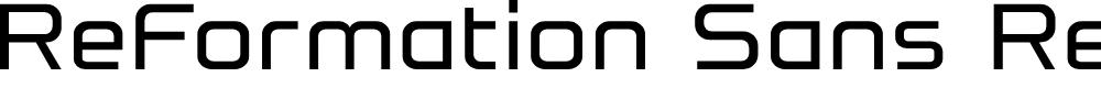 Preview image for ReFormation Sans Regular Font