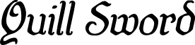 Quill Sword Italic