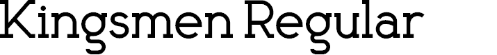 Preview image for Kingsmen Font