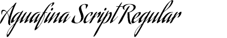 Preview image for Aguafina Script Regular Font