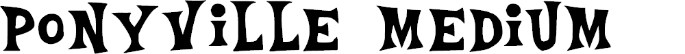 Preview image for Ponyville Medium Font