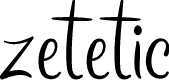 Preview image for zetetic Font