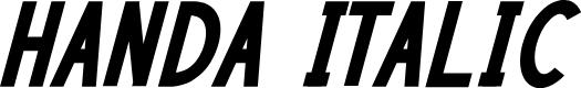 Preview image for HANDA Italic