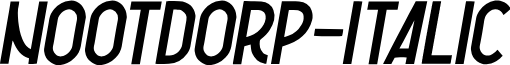 Nootdorp-Italic