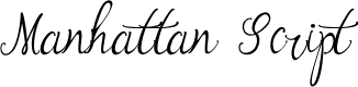 Preview image for Manhattan Script Font