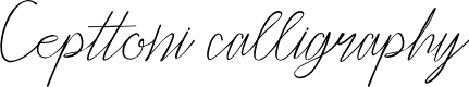 Preview image for Cepttoni calligraphy Font