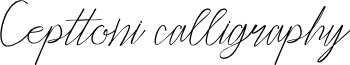 Cepttoni calligraphy