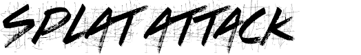 Preview image for Splat Attack Font