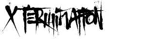 Preview image for X Termination Font