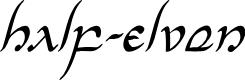 Preview image for Half-Elven Condensed Italic Condensed Italic