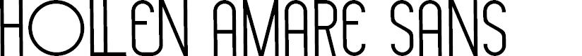 Preview image for Hollen amare sans Font