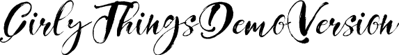 Preview image for GirlyThingsDemoVersion Font