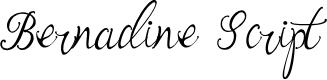 Preview image for Bernadine Script Font
