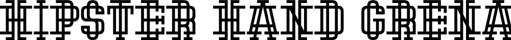 Preview image for Hipster Hand Grenade Font