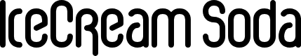 Preview image for IceCream Soda Font
