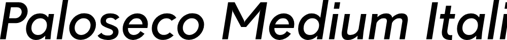 Preview image for Paloseco Medium Italic