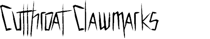 Preview image for Cutthroat Clawmarks Font