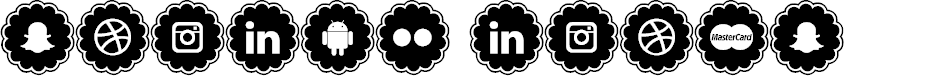 Preview image for social icons Font