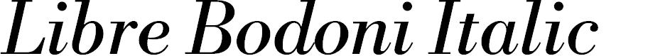 Preview image for Libre Bodoni Italic