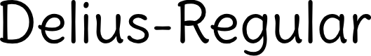 Preview image for Delius-Regular Font