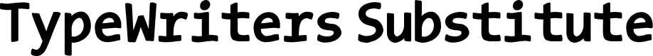 Preview image for TypeWritersSubstitute-Black