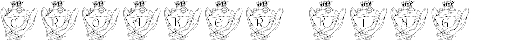 Preview image for LCR Croaker King Font