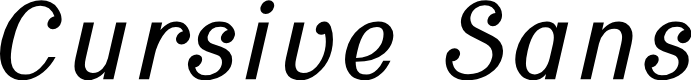 Preview image for Cursive Sans