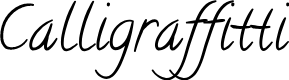 Preview image for Calligraffitti Font