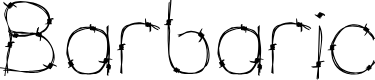 Preview image for Barbaric 2B Reg Font