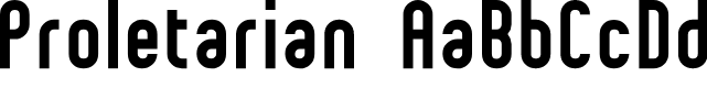 Preview image for Proletarian Font