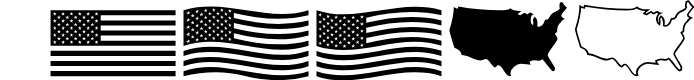 Preview image for US Flag Font