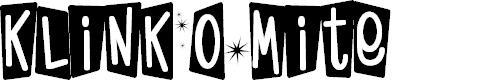 Preview image for KlinkOMite Font
