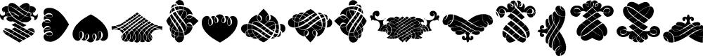 Preview image for BlackOrnamentsFree Font