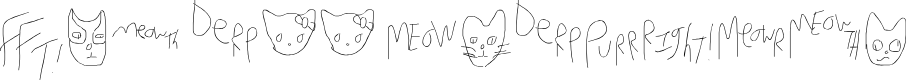 Preview image for Mew Too CatDings Font
