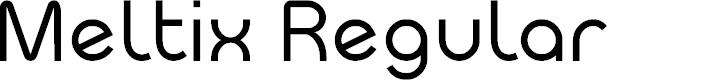 Preview image for Meltix Regular Demo Font