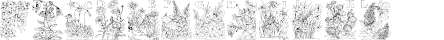 Preview image for Flower and Fairy Alphabet Font