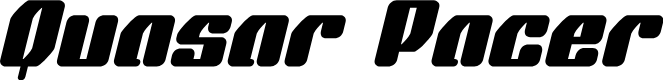 Preview image for Quasar Pacer Italic Font