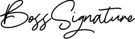Preview image for BossSignature Font