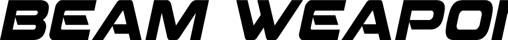 Preview image for Beam Weapon Condensed Italic