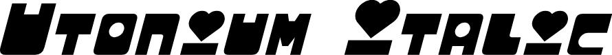 Preview image for Utonium Italic