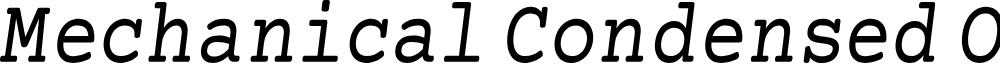 Preview image for Mechanical Condensed Oblique