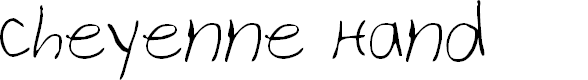 Preview image for Cheyenne Hand Font