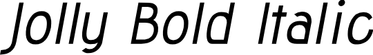 Preview image for Jolly Bold Italic