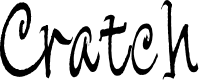 Preview image for Cratch Font