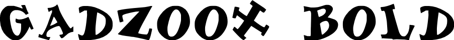 Preview image for Gadzoox Bold Font