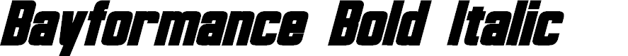 Preview image for Bayformance Bold Italic