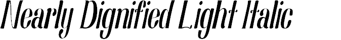 Preview image for Nearly Dignified Light Italic