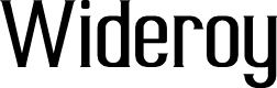 Preview image for Wideroy Font